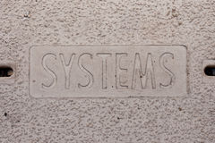 Systems Manhole Cover Royalty Free Stock Photography