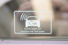 Systemu Bezpieczeństwa I Immobilizer kradzieży system Obraz Stock
