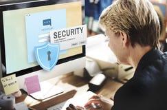 Systemu Bezpieczeństwa hasła sieci przesyłania danych Dojazdowa inwigilacja Concep Fotografia Stock
