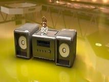 Systemu dźwiękowego 3d tapeta Obrazy Royalty Free