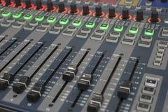 Systemu dźwiękowego pulpit operatora Fotografia Royalty Free