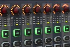 Systemu dźwiękowego pulpit operatora Zdjęcia Royalty Free