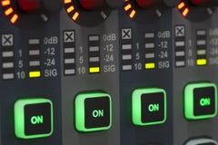 Systemu dźwiękowego pulpit operatora Obraz Stock