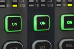 Systemu dźwiękowego pulpit operatora Obrazy Stock