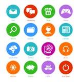 Systemu mieszkania ikony || Set Ja Obraz Royalty Free