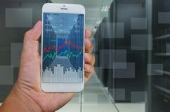 Systemu monitorowanie mądrze telefonem Obrazy Royalty Free
