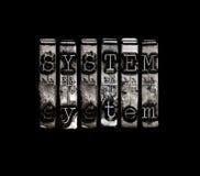 Systemu pojęcie Obraz Royalty Free
