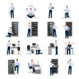 Systemverwalter Icons Set Lizenzfreie Stockfotografie
