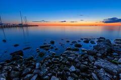 Syster Bay Sunset royaltyfri fotografi
