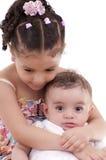 Syster och broder Royaltyfri Foto
