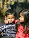Syster och broder Royaltyfria Bilder