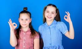 systerskapbegrepp Lyckliga barn spelar tillsammans Att ha systern ?r alltid roligt F?rtjusande systrar som ler framsidor b?st arkivbilder