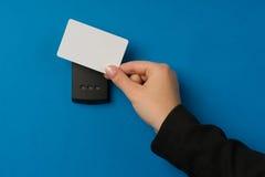 Système de sécurité électronique étant activé Image libre de droits