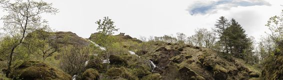 Systrafoss panoramisch Lizenzfreie Stockbilder