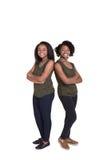 2 systrar eller vänner Arkivbild