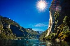Systrar för vattenfall sju Royaltyfri Fotografi