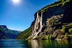 Systrar för vattenfall sju Arkivfoton