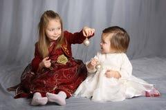 systrar två Arkivbilder