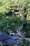 Syugyo no iwaba of Risshaku ji Yamadera in Yamagata Royalty Free Stock Photo