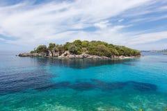 Syvota, Agia Paraskevi wyspa Obrazy Royalty Free