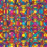 Syymetry naadloze patttern van de cirkel vertcial horizontale kleur Royalty-vrije Stock Foto's