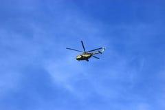 Syzran Rosja, Sierpień, - 24, 2016 kadeci trenuje lota helicop Obraz Royalty Free