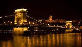 Széchenyi Chain Bridge in Budapest, Hungary Royalty Free Stock Image