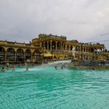 Széchenyi Bath Budapest Hungary royalty free stock images