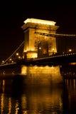 Széchenyi Chain Bridge in Budapest. Hungary stock photo