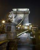 Széchenyi Lanchíd (Hängebrücke) Lizenzfreie Stockfotos