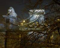 Széchenyi Lanchíd (Kettingsbrug) Stock Afbeeldingen