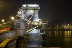 Széchenyi Lanchíd (ponte Chain) Fotografia de Stock Royalty Free