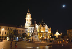 Széchenyi square with the town hall of Pécs Stock Images