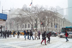 Szóstego Ave śnieg Obraz Stock