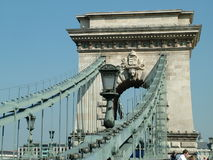 Széchenyi Chain Bridge in Budapest Stock Photography