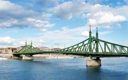 Szabadság hid - Liberty bridge in Budapest Stock Image