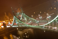Szabadsag Bridge in Budapest Royalty Free Stock Photography