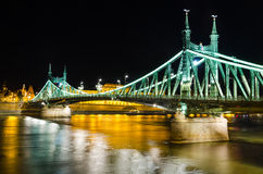 Szabadsag, Liberty Bridge in Budapest Stock Photos