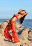 szabli dancingowa kobieta Obrazy Royalty Free