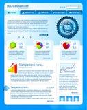 szablon błękitny strona internetowa Zdjęcie Stock