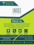 Szablon, broszurka lub ulotka dla Medycznego pojęcia, Zdjęcie Stock