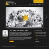 szablon czarny elegancka strona internetowa Obraz Stock