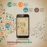 Szablon dla infographic dla obłocznej informatyki Obraz Royalty Free