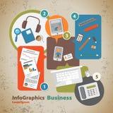 Szablon dla infographic z symbolem biznes Zdjęcie Royalty Free