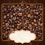 Szablon dla kawa domu menu Obrazy Royalty Free