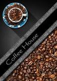 Szablon dla kawa domu menu Fotografia Stock