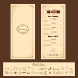 Szablon dla menu karty Zdjęcia Royalty Free