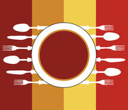 Szablon dla menu karty z cutlery royalty ilustracja