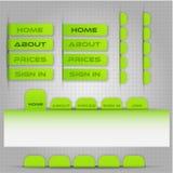Szablon dla miejsce menu Fotografia Stock