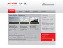 szablon fachowa strona internetowa Zdjęcia Stock